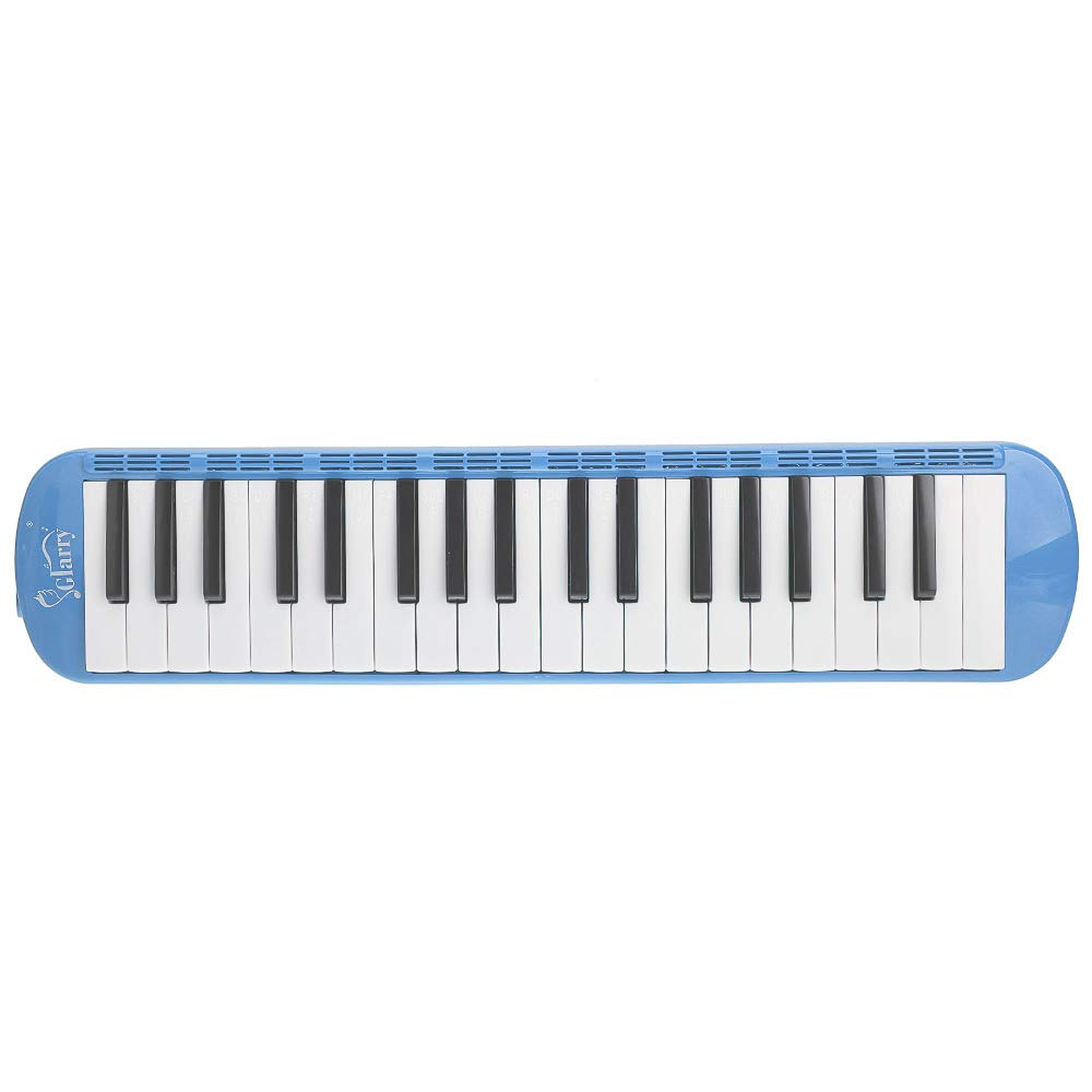 A-WD Glarry 37-Key Melodica with Mouthpiece & Hose & Bag Blue by A-WD