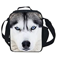 CARBEEN 3D Animal Husky Insulated Lunch Box Cooler Bag (Husky)