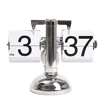 ZHAORLL Estilo Retro Flip Escritorio Estantería Reloj Digital Mecánico Flip Dummy Reloj Digital Auto Flip Down Reloj Mecanismo Interno Operado Reloj Digital ...