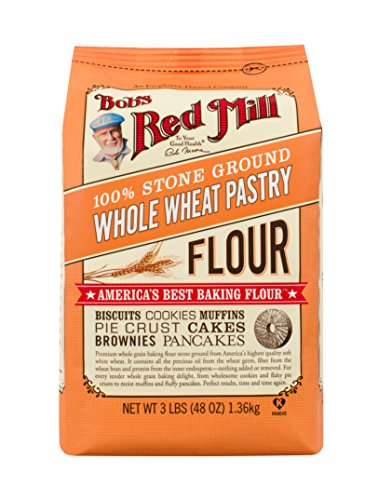 Whole Wheat Pastry Flour Muffins - Bob's Red Mill Whole Wheat Pastry Flour, 48-ounce