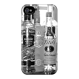 Durable Protector Case Cover With Liqour Bottles Hot Design For Iphone 4/4s