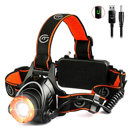 LED Head Torch - OMERIL USB Rechargeable Headlamp with Super Bright 2000...