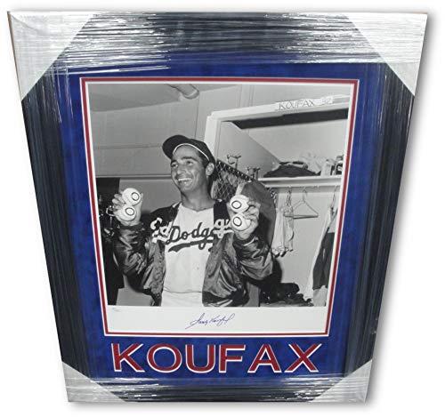 (Sandy Koufax Signed Autographed 16X20 Photo Dodgers 4 Ball No Hitter JSA Framed)