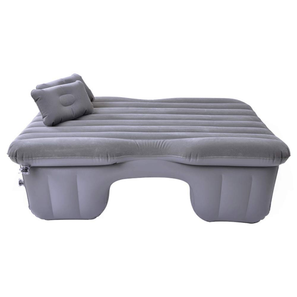 ERHANG Heizung Aufblasbare Bett Auto Luftmatratze Hintere Reihe Auto Reisebett Sitz Schlafmatte Dicke Beflockung Stoff,grau