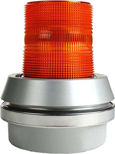 Edwards Signaling 51A-N5-40W Flashing Incandescent Beacon, Integrated Horn, 95/85 db, 120V AC, Amber, 24W, 189 Lumens
