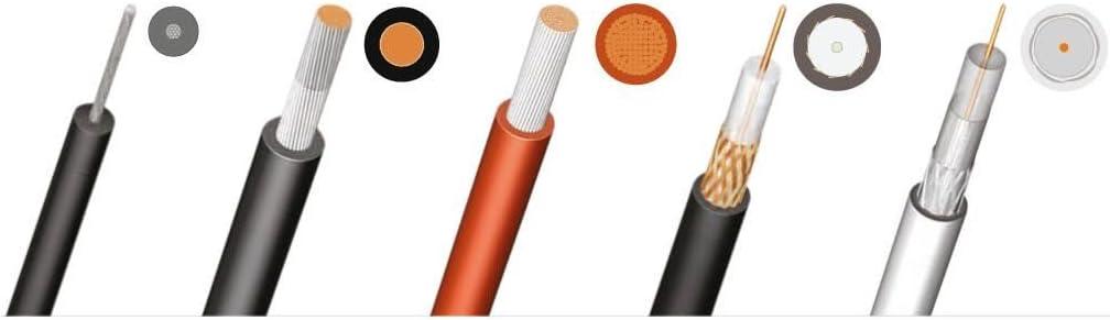 WEICON 52000002 Pelador de Cable Coaxial No.2 / Antena 4,8-7,5 mm Ø/Made in Germany/Herramienta electricista alemana, Azúl/Rojo, talla única