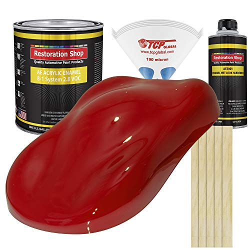 Restoration Shop - Complete Gallon Kit - Rally RED Acrylic Enamel Single Stage Car Auto Paint