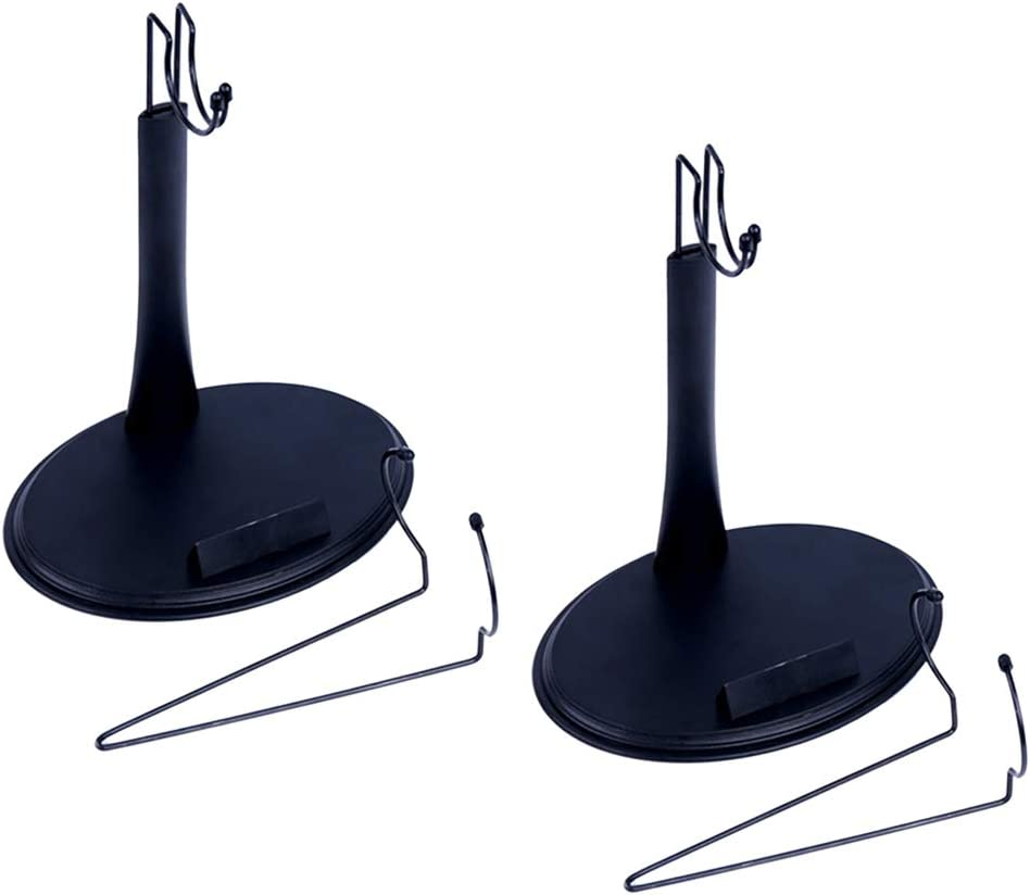 2pcs Sostenedor de Presentaci/ón para Figura de Acci/ón Modelo 3D Hellery 1//6 Escala Soporte de Exhibici/ón para Mu/ñecas
