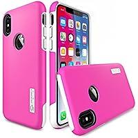 Totu Scratch Resistant iPhone X Case (Pink/White)