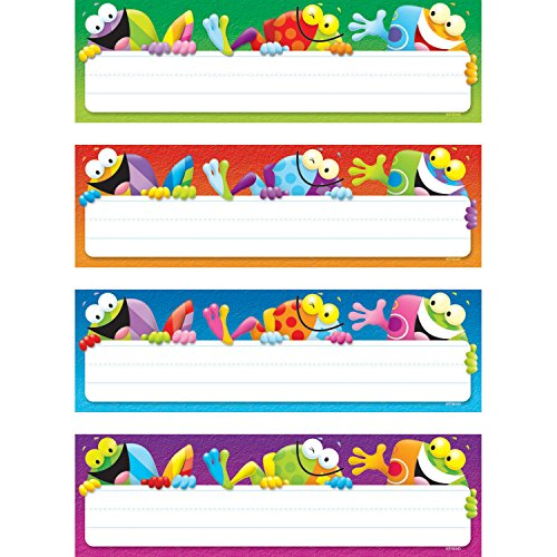 TREND enterprises, Inc. Frog-tastic! Desk Toppers Name Plates Var. Pk., 32 (Desk Plates Frogs)