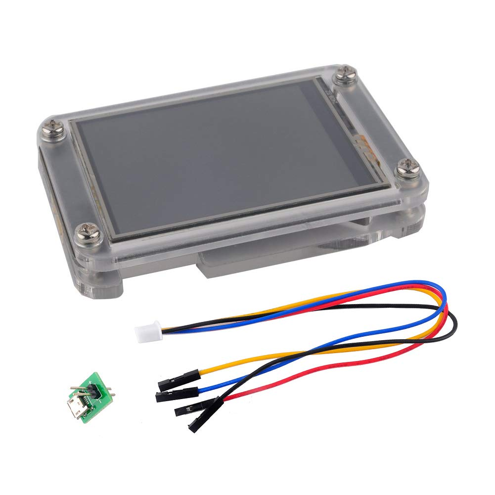 WIshioT Nextion Enhanced 3.5'' HMI Touch Display LCD Module NX4832K035 for Arduino Raspberry Pi with Acrylica Case