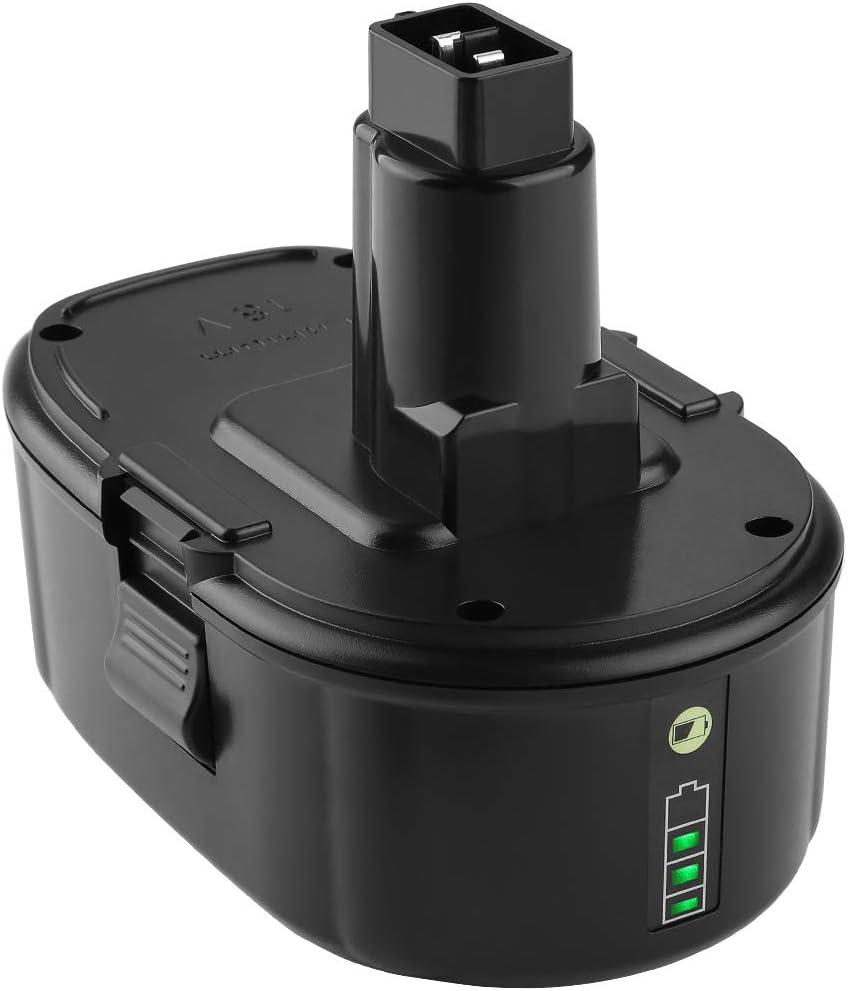 Yabelle Replacement 5.0Ah Lithium Dewalt 18V Battery for Dewalt Battery 18 Volt XRP Ni-Cad Battery DC9096 DC9098 DC9099 DE9039 DE9095 DE9096 DE9098 DW9095 DW9096 DW9098 DE9503 DC9182 Dewalt Batteries