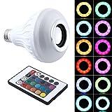 SHSYCER LED Colorful Light Bulbs Wireless Bluetooth Speaker Light Smart Home Light Bulb ABS RGB 16 Colors Speaker
