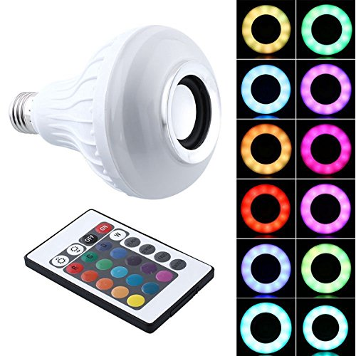 SHSYCER LED Colorful Light Bulbs Wireless Bluetooth Speaker