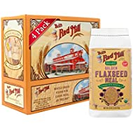 Bob's Red Mill Organic Golden Flaxseed Meal, 16-ounce (Pack of 4) (Package May Vary)