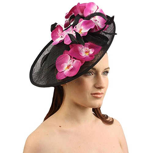 SK Hat shop Orchid Floral Feather Handmade Derby Headband Fascinator millinery Church (Orchid Band)