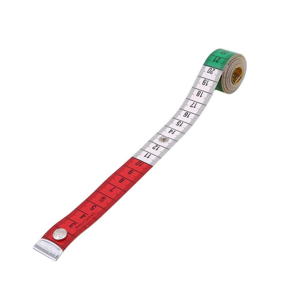 doppelseitig mit cm und Zoll weiches 150 cm YK.Hapyshop Ma/ßband f/ür N/ähen//Schneider flaches Gewebe-Ma/ßband