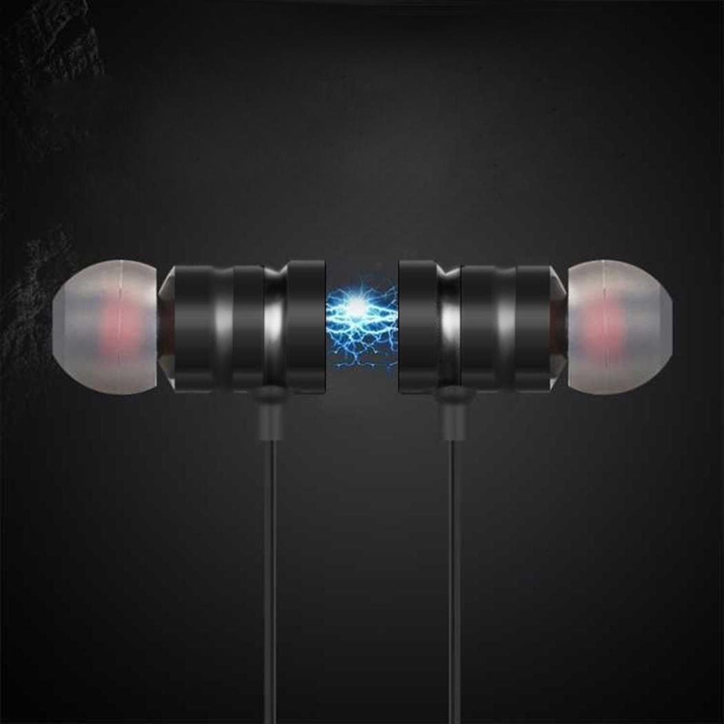 Pairka Auriculares Magnéticos Auriculares Inalámbricos Deportivos Manos Libres Estéreo Sonido HD Bluetooth 4.1 Negro: Amazon.es: Electrónica