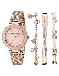 Anne Klein AK/3394 - Conjunto de reloj y pulsera para mujer con cristales de Swarovski, Rose gold