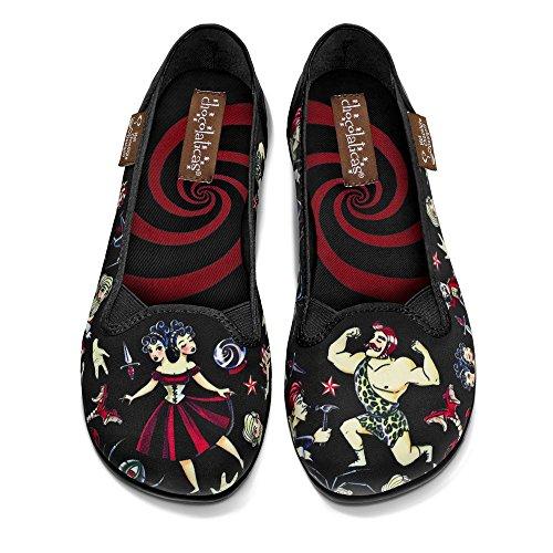Hot Chocolate Design Chocolaticas Freak Show Women's Slip-On Fashion Sneaker Flat Multicoloured HCD 38