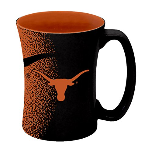Longhorn Coffee Mug - NCAA Texas Longhorns Sculpted Mocha Mug, 14-ounce