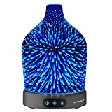 Essential Oil Diffuser, SZTROKIA 3D Galaxy Aromatherapy Diffuser, 200ML Aroma Essential Oil Cool Mist Humidifier with 24 Color Changing, Metal Case Base, Waterless Auto Shut-off for Home,Office,Baby