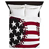 CafePress - Flag Baseball - Queen Duvet