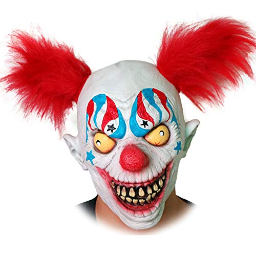 Halloween Horror Mask Latex Hair Clown Mask Headgear Headgear Haunted House Props ()