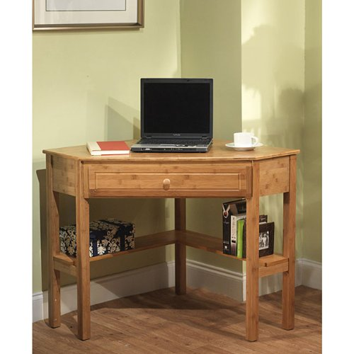 Simple Living Bamboo Corner Desk Simple Living