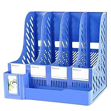 Zddab File Holder 4 Spalte Buro Aufbewahrungsbox A4 Ordner Student