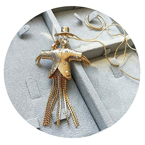 1stdibs Costumes Jewelry - Vintage Fashion Scarecrow Figure Rhinestone Gold