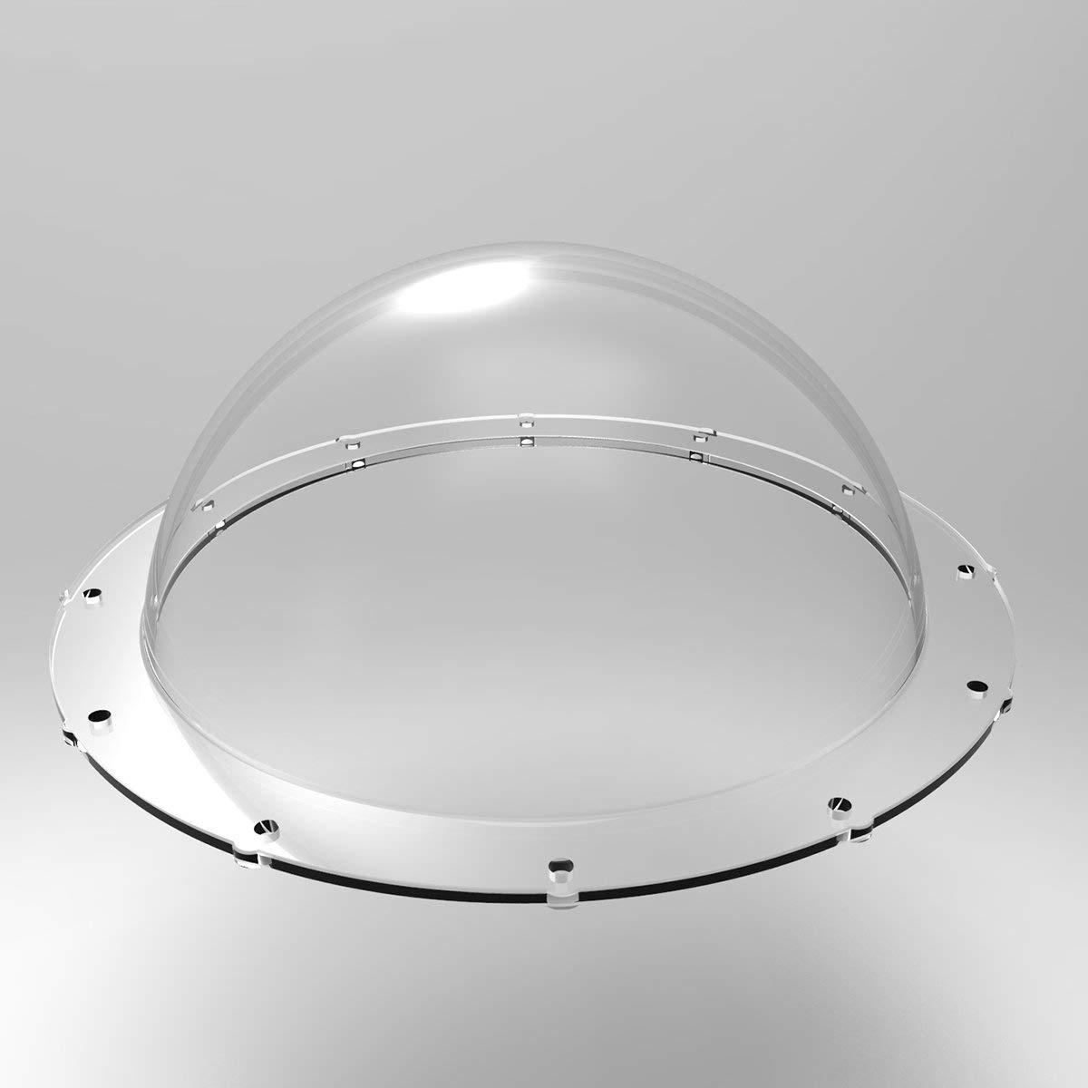Tapa de Repuesto TELESIN 6 Dome Port C/úpula Impermeable Cubierta Transparente Carcasa de Lente con Empu/ñadura y Gatillo Pistola y Bolsa Protectora