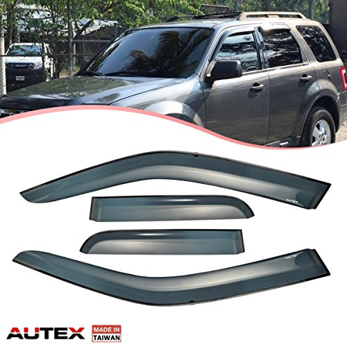 (AUTEX Tape On Window Visor Compatible with Ford Escape 2001-2012 Replacement for Mazda Tribute 2008-2011 Compatible with Mercury Mariner 2005-2011 Sun Deflector Wind Guard)