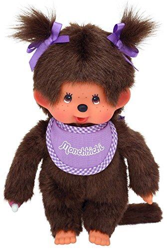 Schylling Monchhichi Girl - Purple Bib