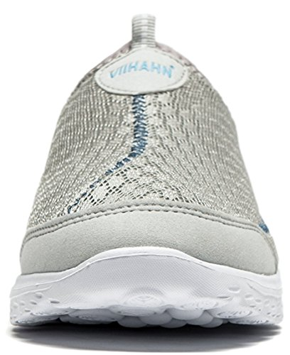 Vibdiv--Hommes Légers Respirante Slip-on Chaussures (EU 41 UK 7, Gris)