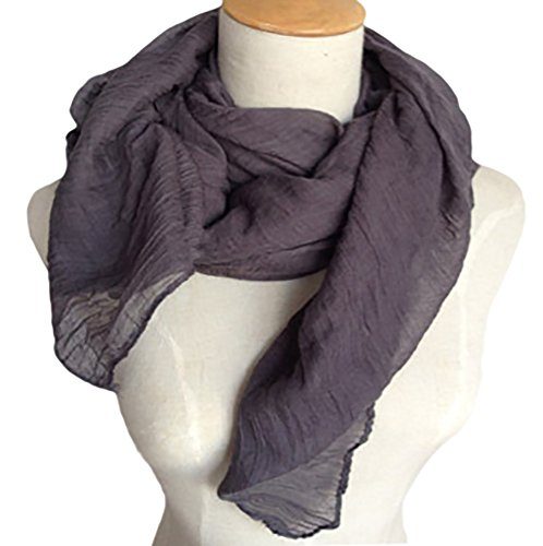 Spikerking Pure color cotton Hemp Silk scarf travel sunscreen scarf long Big scarves,Dark gray