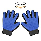 Pet Grooming Glove – Pet Glove Massage Magic Hair Remover – Perfect for Dogs & Cats with Long & Short Fur – 1 Pair