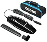 LOLLDEAL Car Vacuum, 12V Powerful Black Car Vacuum Portable Hand-held Automotive/Auto Vacuum Mini Car Vacuum Cleaner with 14.8 FT(4.5M) Long Cord with A Carrying Bag …