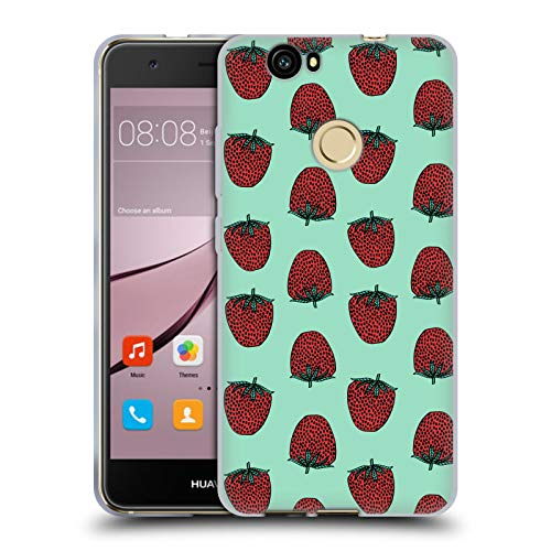 Official Andrea Lauren Design Strawberry Food Pattern Soft Gel Case for Huawei Nova ()