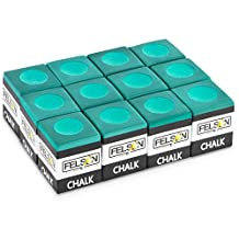 Felson Billiard Supply SFELS-010 Box of 12 Cubes of Pool Cue Chalk Accessories, Green