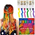 Kyerivs Hair Chalk Comb Temporary Hair Color Dye For Kid Girls Party and Cosplay DIY Festival Dress up Works on All Hair Colors Washable Christmas Gift Black Handle