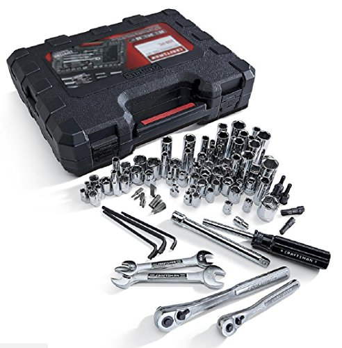 Craftsman 108 Pc Piece SAE Metric Mechanics Tool Set Case Sockets 38108 NEW