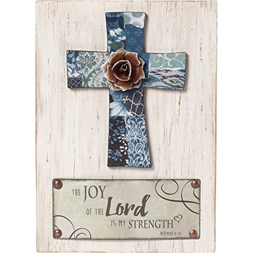 - Precious Moments Farmhouse Decor The Joy Of The Lord Is My Strength Wood/Metal Wall Plaque 189913