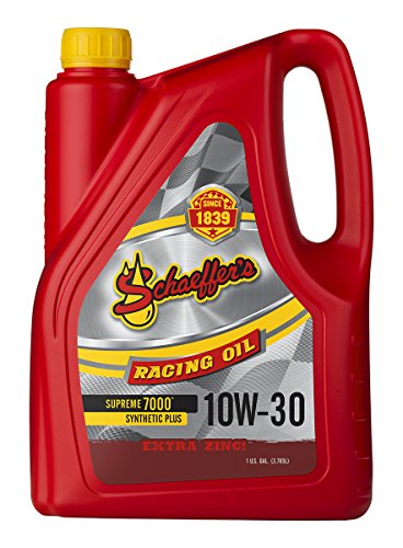 (Schaeffer Manufacturing 0709-006S Supreme 7000 Synthetic Plus Racing Oil, 10W-30, 1 gal )