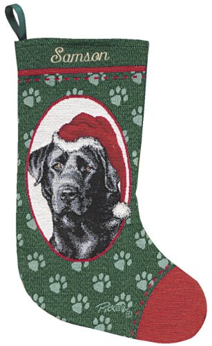 Personalized Black Labrador Pet Christmas Stocking (Stocking Dog Tapestry Christmas)