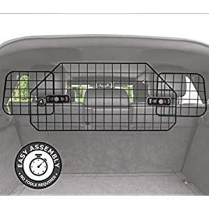 pawple Dog Barrier for SUV's, Cars & Vehicles, Heavy-Duty - Adjustable Pet Barrier, Universal Fit 11