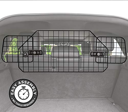 Pawple Dog Barrier for SUV's, Cars & Vehicles, Heavy-Duty - Adjustable Pet Barrier, Universal Fit ()
