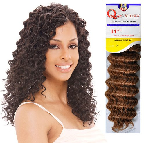 BUY 1 GET 1 FREE Milky Way Human Hair Master Mix Weave Que Deep Wave 10