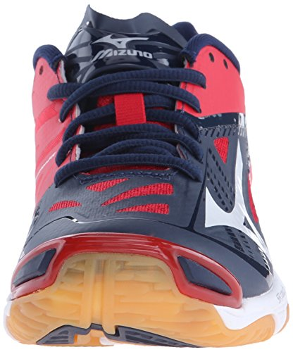 Mizuno Women's Wave Lightning Z2 Volleyball Shoe Navy/Red big discount cheap price clearance low price low shipping fee cheap online nkrwBlCiFS