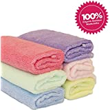 Luv Your Baby 6 Pack of 100% Bamboo Washcloths, Perfect...
